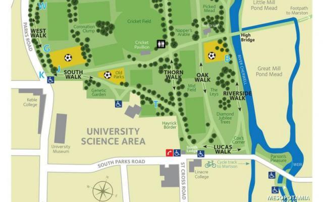 University Parks Map