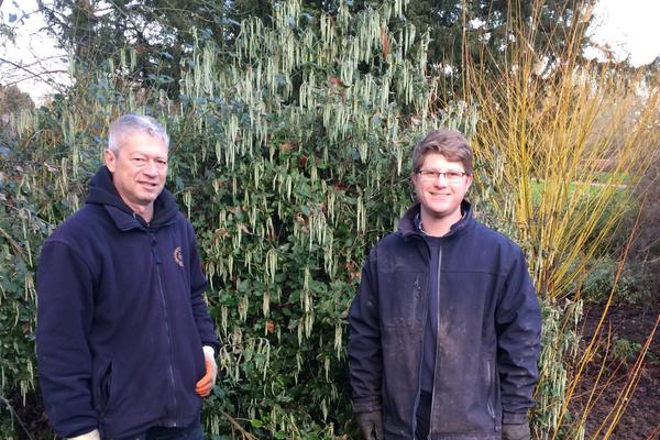 Photo of gardeners Tom and Tim at Cox's Corner, University Parks