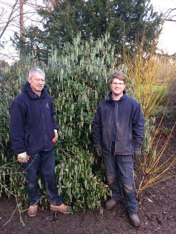 Photo of gardeners Tom and Tim at Cox's Corner, University Parks