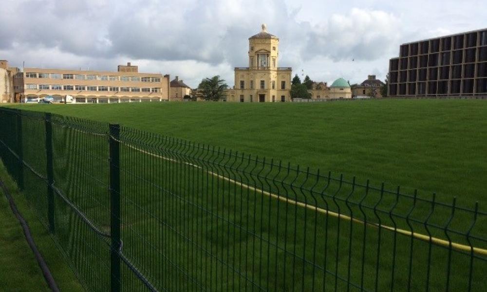 Radcliffe Observatory Quarter landscaping after